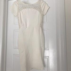 Topshop White Lace Midi Dress